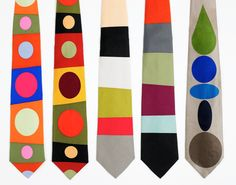 Gene Meyer ties, colorful, graphic patterns