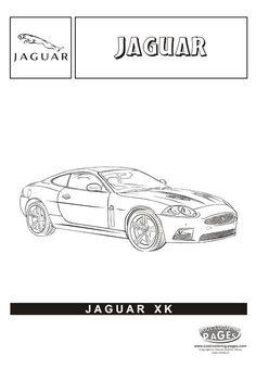 jaguar xk cars coloring pages