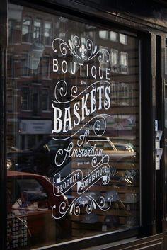 Shop window, amsterdam lettering on things grafik tasarım, tipografi, butik Design Shop, Web Design, Shop Front Design, Store Design, Design Trends, Typography Letters, Typography Design, Branding Design, Design Logo