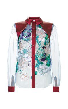 1fbdc92207c575 Jessie Shirt by Jonathan Saunders for Preorder on Moda Operandi Sheer Shirt
