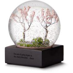Cherry Blossom Snow Globe found on Polyvore