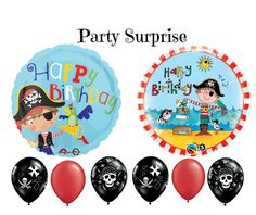 Pirate Birthday Balloons Party Kids Birthday by PartySurprise