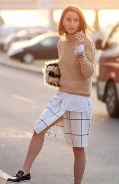 sweater-with-checkered-pants-and-lugsole-shoes