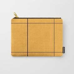 Grid Orange Carry-All Pouch by Bravely Optimistic | Society6