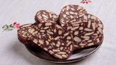 Saldā desa ar mandeļu cepumiem un mandelēm - Jauns. Vegan Recipes, Cooking Recipes, Vegan Food, Nutella, Brownies, Biscuits, Cheesecake, Tableware, Mai