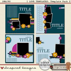 I LOVE TEMPLATES: Template Pack 2 from Inspired Designs