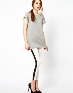 Wal G Legging With Wet Look Panel