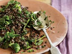 Sophie Dahl fondly refers to this dish as Paris Mash because she used to make it in Paris while visiting an artist friend, Annie Morris. With herbs an... Herb Recipes, Lentil Recipes, Plant Based Recipes, Veggie Recipes, Wine Recipes, Whole Food Recipes, Vegetarian Recipes, Cooking Recipes, Salad Recipes