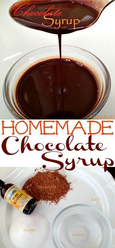 Homemade Chocolate Syrup Recipe for homemade chocolate milk, chocolate syrup for pancakes, or chocolate mocha coffee. You will love having this on hand all the time. Add a little chocolate to your smoothies.