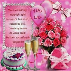 Kartka pod tytułem W Dniu Urodzin z Najlepszymi Życzeniami Birthday Wishes, Happy Birthday, Table Decorations, Holiday Decor, Cards, Pictures, Happy Brithday, Animaux, Photos