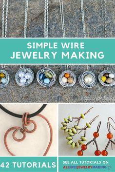 Wirework doesn't have to be hard! These jewelry tutorials make it super simple to make wire jewelry.