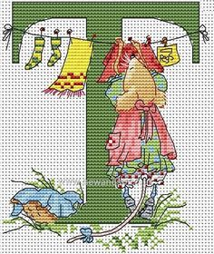 Seraphina Alphabet Letter T Cross Stitch Kit
