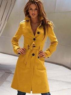 Victoria Secret Belted Wool Trench