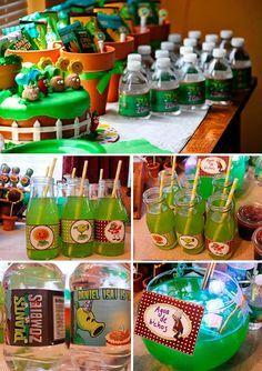 ideas y tips originales para fiestas Zombie Birthday Parties, Zombie Party, 11th Birthday, Dinosaur Birthday, Halloween Party, Plants Vs Zombies, Plant Zombie, Holidays And Events, Party Themes