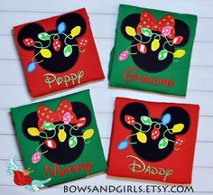 Disney -Christmas -Shirt -Cruise-Parks -Mickey -Minnie- Personalized -inspired- Custom- Applique- Family - Embroidery - Monogram