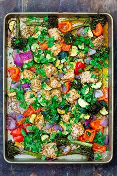This Simple Sheet Pan Chicken and Vegetables is perfect for a busy weeknight dinner idea for your family! The Mediterranean Dish