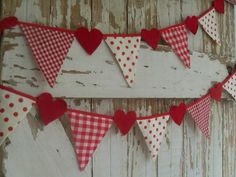 Cheap, easy, and cute Valentine's Day banner.