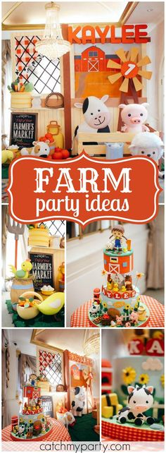 So many fun ideas at this farm themed birthday party! See more party ideas at Catchmyparty.com!