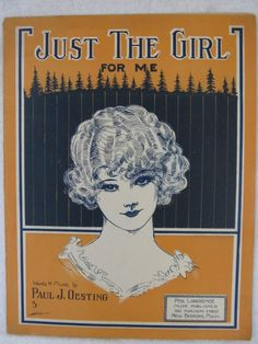 vintage sheet music Just The Girl Sheet Music Book, Vintage Sheet Music, Vintage Sheets, Music Sheets, Gravure Illustration, Illustration Art, Vintage Illustrations, Vintage Posters, Vintage Art