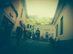 #street #umbrella #town #colors #air #people