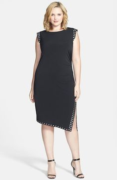 MICHAEL Michael Kors Studded Sheath Dress (Plus Size) available at #Nordstrom