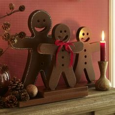 DIY gingerbread man - wood   christmas decoration