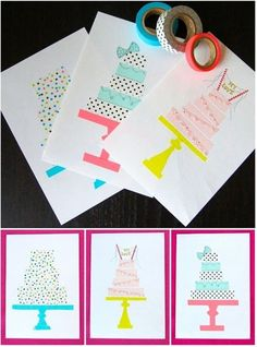 Washi Tape Birthday Cards