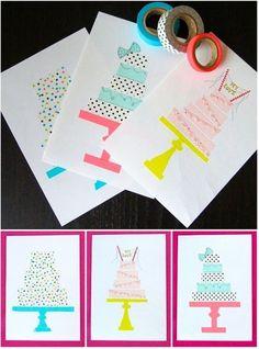 Washi Tape Birthday Cards