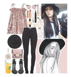 """""""Maggie"""" by iarsotelo on Polyvore featuring Chicas Fashion, Burberry, Shoe Cult, Casetify, American Apparel, Accessorize, Charlotte Tilbury, Forever 21, Fendi y Gladys Tamez Millinery"""