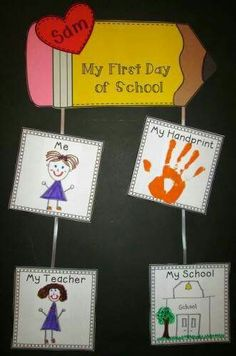 Back to School {Centers, Printables & Craftivities Aligned to CCSS} – Back to School Crafts – Grandcrafter – DIY Christmas Ideas ♥ Homes Decoration Ideas First Day Of School Activities, Kindergarten First Day, 1st Day Of School, Beginning Of The School Year, Kindergarten Classroom, School Fun, Back To School Crafts For Kids, Welcome To Kindergarten, Back To School Art