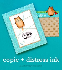Copic and Distress Ink Video by Jennifer McGuire Ink