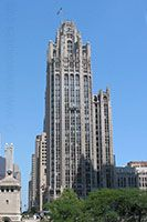 The Tribune Tower (this building has stones from various structures of the world on its exterior - click to read more)