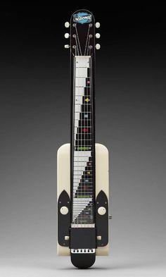 Lap steel guitar (Dynamic model)    Valco (National brand), 1952  81.3 x 16.5 x 3.8 cm (32 x 6 1/2 x 1 1/2 in.)  Maple, plastic, steel