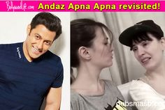 Salman Khan, leave everything and watch this awesome Andaz Apna Apna Dubsmash video by two foreigners!  #SalmanKhan  #Dubsmash