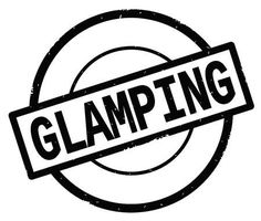 word glamping in black and white - Google Search