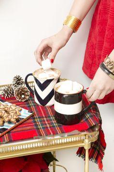The best hot chocolate starts with a great mug. #JillRosenwald #Holiday #Ceramics