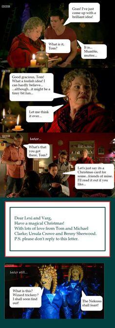 Tom sends a Christmas card to the Nekross