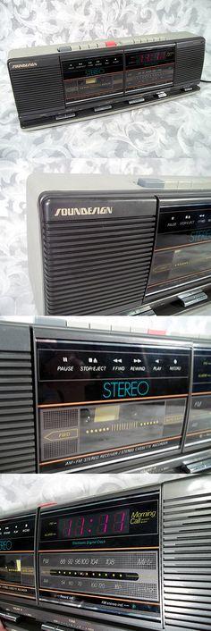 Vintage SOUNDESIGN AM-FM DIGITAL CLOCK STEREO RECEIVER CASSETTE RECORDER Model 3877MGY