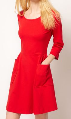 Cute Cheap Sexy long-sleeved dress 8859 Red - $19.8 Free Shipping Online Shopping Free Shipping 1199722325