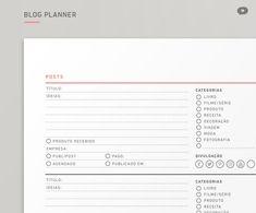 Blog Planner 2018 | Não Me Mande Flores - FREEBIE!