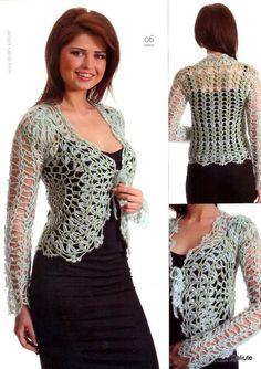 Crochet Bolero or short jacket. Saco