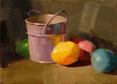 """""""Easter Colors --- Sold"""" - Original Fine Art for Sale - © Qiang Huang"""