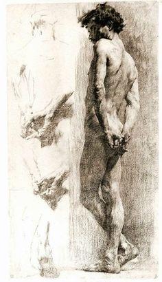 Otto+Greiner+-+Nudo+virile+e+studio+di+mani%2C+1896+ca.+disegno+a+carboncino.jpg 414×720 pixels