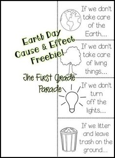 Earth Day Cause and Effect