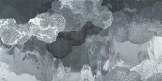 Rebecca Rutstein, cumulonimbus, 2014, Acrylic on canvas, 60 x 120 inches