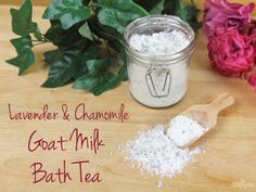 This Goat Milk Bath Tea tutorial features a soothing blend of essential oils, Epsom salts, and of course, skin-nourishing goat milk.