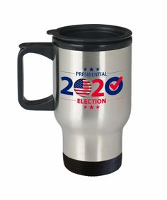 Voting Travel Mug - Presidential 2020 Election - political coffee Travel mug-Election mug - Register and Vote Mug - USA Election Travel Mug - 2020 Elections Coffee Travel, Travel Mug, Politics, Mugs, Tableware, Printed, Products, Dinnerware, Tumblers