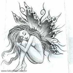 pitrest fairy tatoos   Desenhos Para Tattoos Fadas Tatuando Pictures   Genuardis Portal