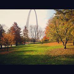 Beautiful, warm Fall day in St. Louis!