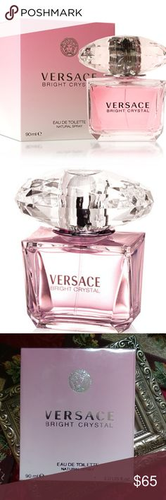 Versace Bright Crystal Eau de Toilette for Women New in the sealed retail box. Versace Bright Crystal Eau de Toilette for Women  Fragrance Notes  Top notes: pomegranate, Yuzu, and frosted accord  Heart notes: peony, magnolia, and fresh lotus  Base notes: amber, musk, and red woods Versace Makeup